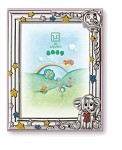 STERLING SILVER Picture Frame 3D  ELEPHANT . ITALY