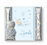 STERLING SILVER Picture Frame BABY BOY.  ITALY
