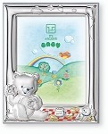 STERLING SILVER Picture Frame BEAR, HONEY & BEE. Italy