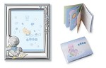 BABY BOY SET: STERLING SILVER Picture Frame  + Booklet. Made in ITALY.