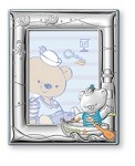 STERLING SILVER Picture Frame CHOCO BEAR  in a BOAT (5