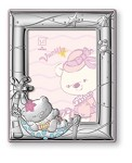 STERLING SILVER Picture Frame VANILLA BEAR in a HAMMOCK. (5